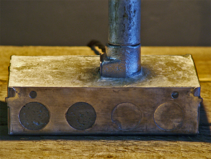 Concrete & Steel Lamp
