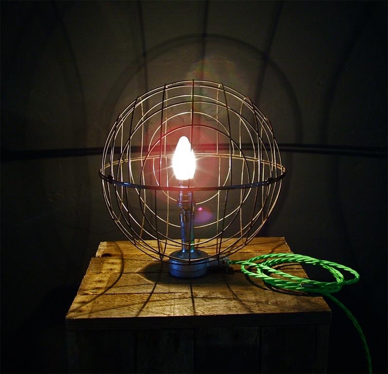 wire globe lamp